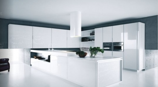 Kitchen black White design