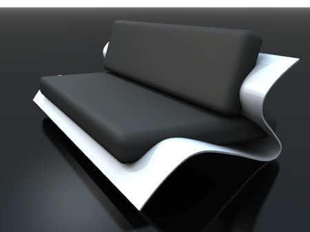 Sofa bend black and white