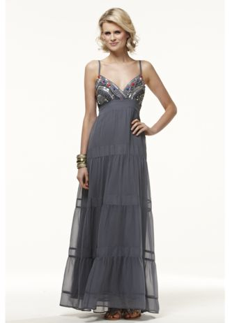 Be Beau Embellished Teared Maxi Dress