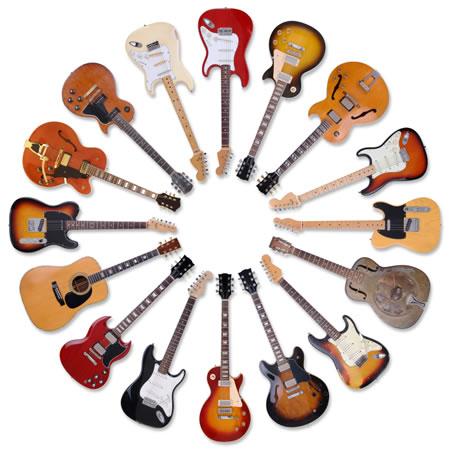 Guitars from fenders to V-kings