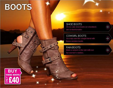 Flat and High heeled designer women's boots