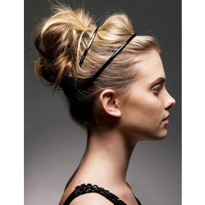 Cute Updo With Headband