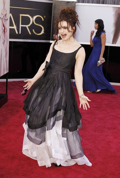 "British actress Helena Bonham Carter, of the film ""Les Miserables"", arrives at the 85th Academy Awards in Hollywood"