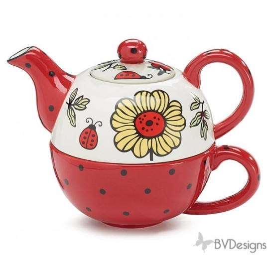 lucky ladybug ceramic teapot duo mother's day gift ideas